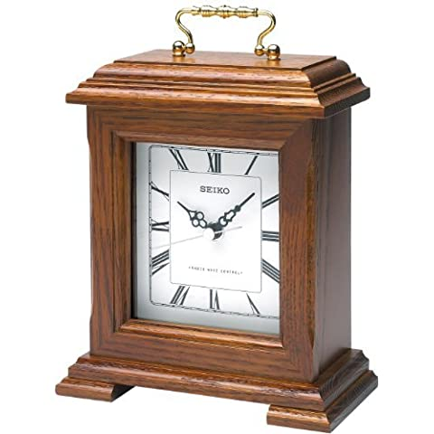 Seiko radio controlled wooden mantel clock by SEIKO