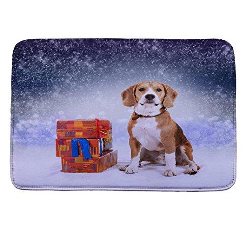 Badematten Set Clode® Weihnachts dekoration Non-slip Badematte 40*60cm für Badewanne Badezimmer (F)