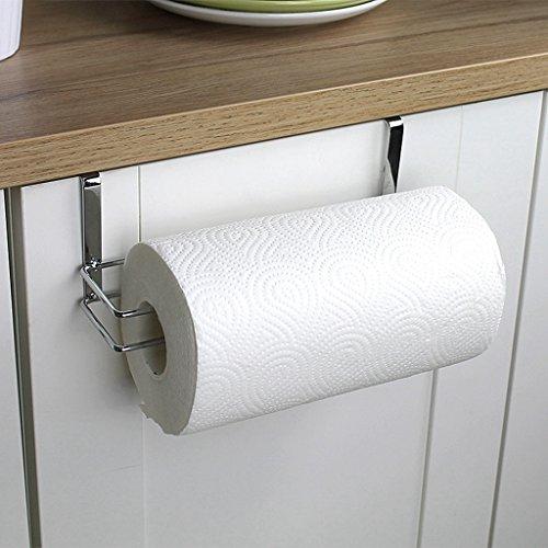 LQZ(TM)) Küchenrollenhalter Papierrollenhalter Küchenrollenspender Rollenhalter für Küche und Bad aus Edelstahl Hängend