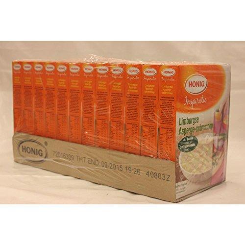 Honig Limburgse Asperge-Crèmesoep 12 x 6 Packungen (Limburger Spargelcremesuppe)