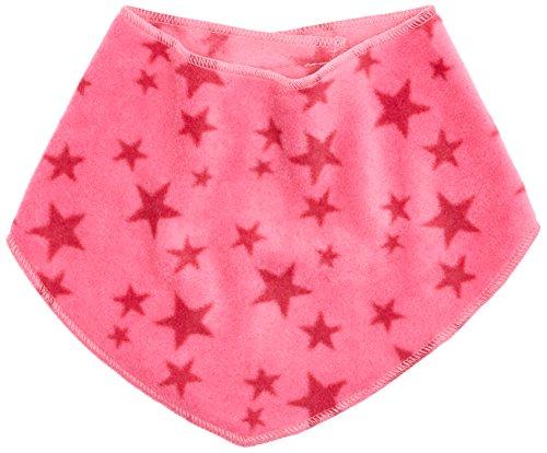 Playshoes Baby Dreieckstuch aus Fleece mit Klettverschluss an der Rückseite, mit Sternen-Muster legeres Hals-Tuch, pink, one Size