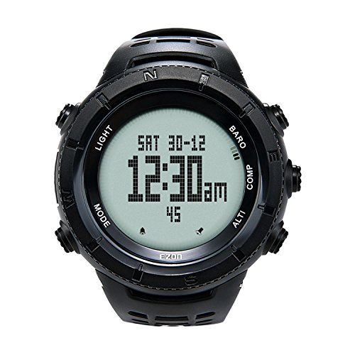 EZON H001H11 Multi-functional Hiking Watch Outdoor Sports Digital Watch with Compass/Thermometer/Barometer/Stopwatch/5 ATM Waterproof