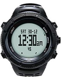 EZON H001H11 Montre multifonctions de randonnée Montre numérique de sports en plein air avec boussole / thermomètre / baromètre / chronomètre / 5 ATM étanche