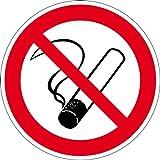Verbotsschild aus Folie - Rauchen verboten - Ø 10 cm