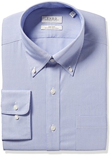 Enro Herren Classic Fit Big Tall Wilkensen Stripe Dress Shirt Shirt - Blau - 56 cm Hals 97 cm- 99 cm Ärmel - Tall Classic Fit Shirt