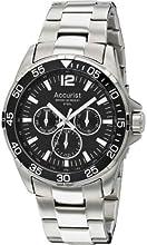 Comprar Accurist MB1042B - Reloj para hombres, correa de acero inoxidable color plateado