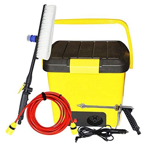 KJRJG 12V tragbarer elektrischer Hochdruck autounterlegscheibenhaushalts 90W Dual-Use-justierbares Auto-Waschpumpe