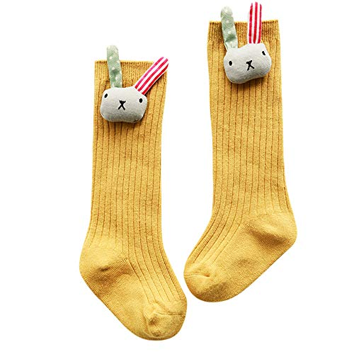 Amphia - Neugeborene Baumwollsocken - Babysocken - Niedliche Cartoon Hohe Socken - Babysocken3Pairs Neugeborenes Baby Cartoon Cat Fox Tierbodensocken Anti-Rutsch-Schritt-Socken -