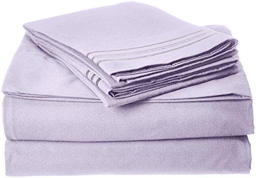 Eleganten Komfort knitterfrei Luxus 4er Set Bed Sheet-1500Fadenzahl Ägyptische Qualität Seidig Weich Best Seller Blatt Set-Twin, flieder/lavendel -