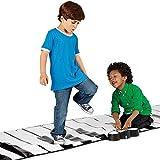 Vetrineinrete® Tastiera musicale da pavimento gigante 260x74 cm gioco per bambini tappeto playmat sensibile al tatto di mani e piedi F50 immagine