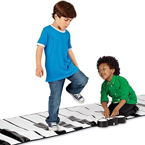 Vetrineinrete® tastiera musicale da pavimento gigante 260x74 cm gioco per bambini tappeto playmat sensibile al tatto di mani e piedi f50