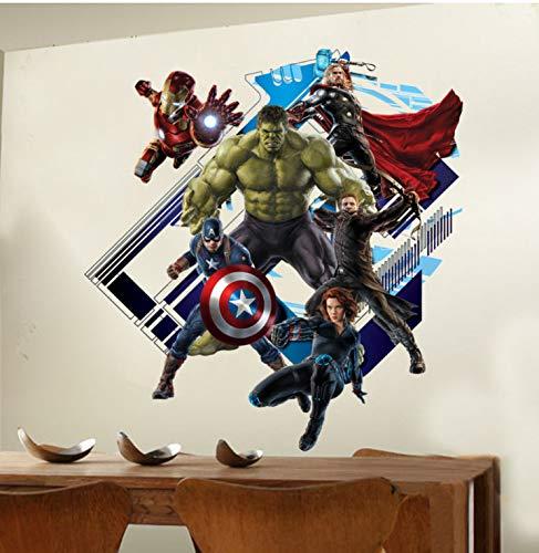 Super Peel (Super Hero Avengers Hulk Peel Und Stick Wandaufkleber Kinderzimmer Aufkleber Cartoon Abziehbilder Wohnkultur Tapete Poster)