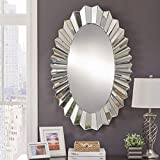Venetian Design Espejo Moderno Series Mandie Oval Wall Mirror For Home Decor, Living Room, Bathroom (Dimensions - H-47 X W-31 Inches)