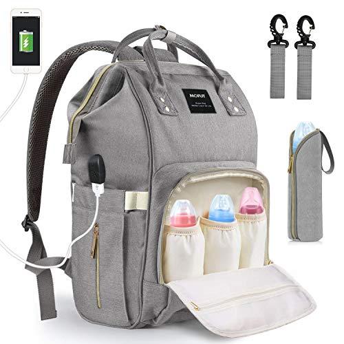 (Baby Wickeltasche Wickelrucksack, mit USB-Lade Port Kinderwagen-haken Isolierte Tasche für Unterwegs, Große Kapazität)