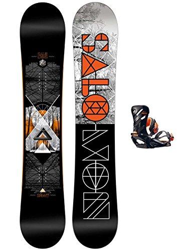 Herren Snowboard Set Salomon Sight 155W + Rhthm L Blk/Wht 2017 Snowboard Set