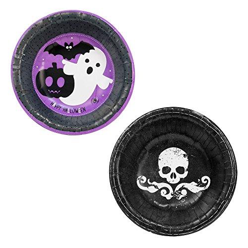 Halloween Papier: Teller, Tassen, Schalen, Servietten oder Party Platten - 16x Bowls