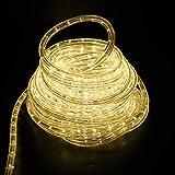 6Mete LED Lichterschlauch Lichtschlauch Lichterkette Licht Leiste 36LEDs/M und Außenbereich Lauflichter für Saal,Garten, Weihnachten, Hochzeit,Party - Warmweiß Lichtschläuche (Warmweiß)