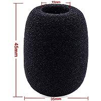 A collo di cigno Tipo Conferenza Microfono Parabrezza Foam diametro interno 15 mm Lunghezza 45 millimetri 10 Black