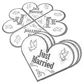 Creative Herz Form Just Married Servietten (20Stück)