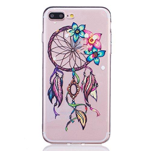 Cozy Hut ® Apple iPhone 7 PLUS Hülle | Premium iPhone 7 PLUS Cover | Tasche | Crystal – Clear | Etui | Silikon | Case | Schutz-Hülle | Bumper | transparente Weicheplastik Rückschale | flexible TPU Bum Campanula
