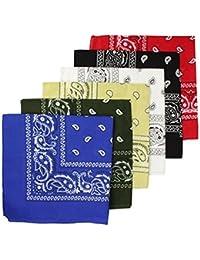 ff0e2d7a661e Boolavard 100% Coton, 1 6 ou 12 Pack Bandanas avec Motif Paisley Originale    Choix de Couleur Couvre-chef…