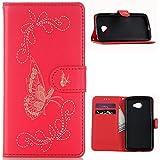 KM-WEN® Schutzhülle für LG K5 X220 (5,0 Zoll) Bookstyle