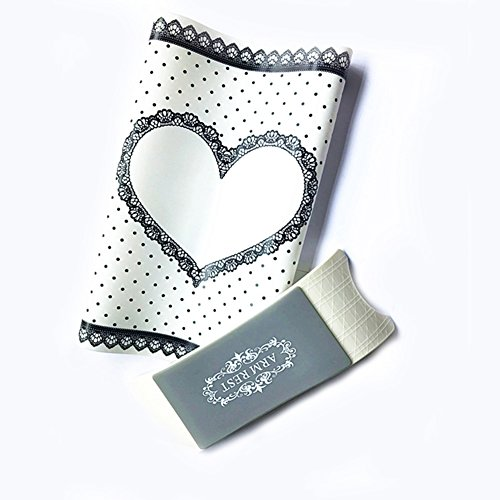 Tappetino in Silicone per Nail Art, Pieghevole, Lavabile, con Cuscinetto Poggiamano, Accessorio per Manicure e Salone di Bellezza