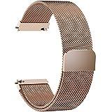Fullmosa Milanese 19mm Uhrenarmband, Milanese Smart Watch Ersatzband kompatibel für 14mm Armband Damen&Herren,19mm Gold