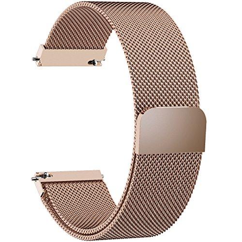 Fullmosa 19mm Uhrenarmband, Smart Watch Ersatzband kompatibel für 14mm Armband Damen&Herren,19mm Gold