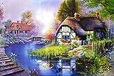 Lqwx 3D Wallpaper Camera Murale Personalizzata Non-Tessuto Adesivo Parete 3 D Fiori E Casa Forestale Pittura Foto 3D Pitture Murali Wallpaper-250Cmx175Cm