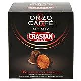 Crastan Capsule Compatibili Nespresso Orzo & Caffè - Pacco da 15 X 2.67 gr - Totale: 40 gr - [confezione da 6]