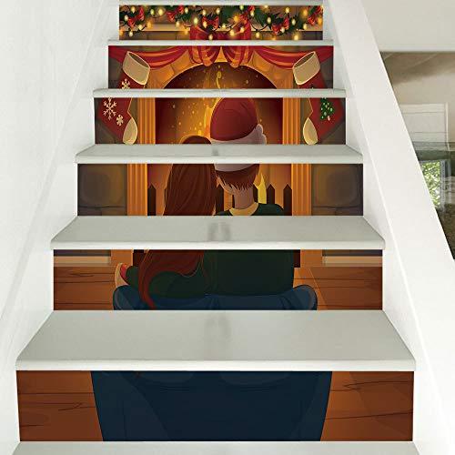 Paar Dress Up Ideen - Treppenaufkleber Weihnachten Dress Up Paar Vor