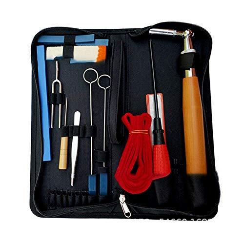 Lā vestmon professionale kit di strumenti di sintonia per pianoforte fisso da 14 pezzi strumento di sintonia per pianoforti chiave di sintonia strumenti e custodia del kit di chiavi a bussola