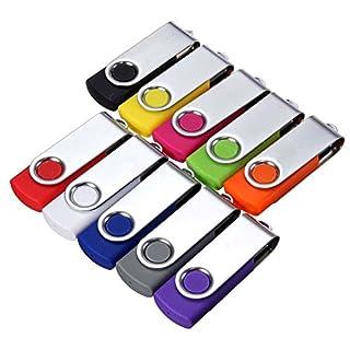1PC Ahead-UK Swivel 64MB USB 2.0 Flash Memory Stick Pen Jump Drive Storage Thumb U Disk For PC Laptop(Random Color)