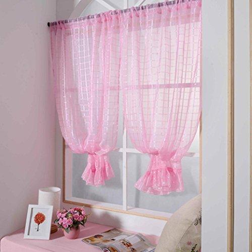 zycshang Hohe Qualität Einfache Spitze Gitter Farbe Gardinen Behandlung Platten Tür Tuch Modern rose (Pub-tische Und Stühle-sets)
