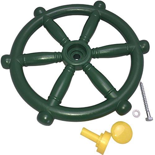 Loggyland Piraten-Lenkrad Steuerrad für Spielturm, Baumhaus Ø 30 cm, grün, Abenteuerspielplatz