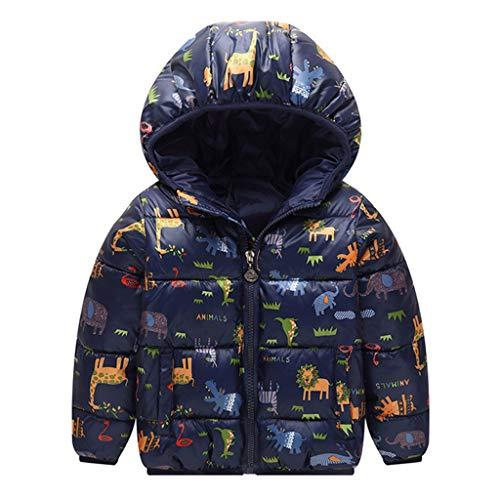 LEXUPE Baby Winter Jacke für 1-4 Alter Jungen Mädchen Mäntel mit Kapuze Herbst Warme Steppjacke Kinder Winterjacke Daunenmantel Verdickte Hoodie Leichte Daunenjacke