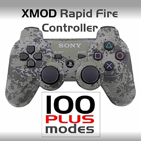 PS3 - PlayStation - SONY Dualshock 3 - Wireless Rapid Fire Modded Controller- XMOD Rapid Fire - 100 PLUS- COD GHOST, BLACK OPS - CAMO by XMOD ELECTRONICS