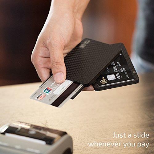 economico per lo sconto risparmia fino al 60% nuovo stile di Porta carte di credito, PITAKA [MagWallet UE] Porta tessere magnetiche  modulari in fibra di carbonio minimalista Portafogli Rfid futuristico - ...