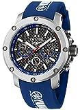 TW Steel-Orologio da uomo al quarzo con Display con cronografo e cinturino in Silicone TW925, colore: blu