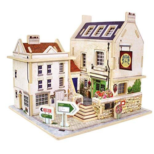 JXJ 3D-Holz Puzzle-DIY Miniatur Architekturmodell Zu Hause Kreative Schmuck Holzhandwerk, Thanksgiving Weihnachts-Geburtstagsgeschenk