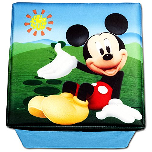 Taburete con espacio con diseño selección–Caja–Caja de juguetes–Juguetes–Juguete Box–Caja para guardar–Taburete Mickey Mouse