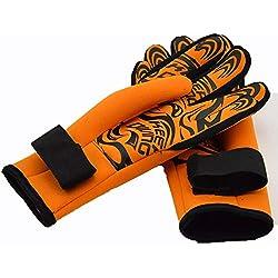 Xlq Gants de Costume de plongée, Gants de plongée en apnée 2MM Gants de plongée Impression Stab antidérapant, Convient au Surf en Kayak Ski Nautique Plongée Natation,Orange,L