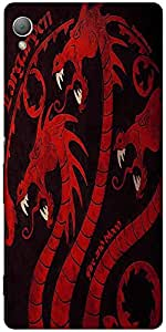 Snoogg Dragon Game 2484 Designer Protective Back Case Cover For Sony Xperia Z4