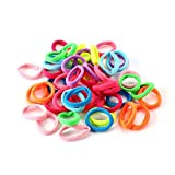 #4: New 30 Pcs/Pack Scrunchy Multi color Elastic Ponytail Head dress For Kids