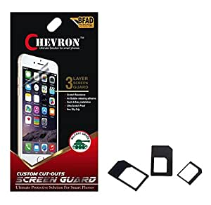 Chevron Matte Screen Guard Protector For Huawei Honor 4C With Multi Sim Adapter