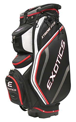 Tour Edge Exotics Extreme Pro Deluxe Cart Bag (Men's, Exotics Extreme Pro Deluxe Cart Bag Black/White/Red) () -