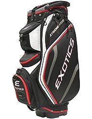 Tour Edge Exotics Extreme Pro Deluxe Cart Bag (Men's, Exotics Extreme Pro Deluxe Cart Bag Black/White/Red) ()