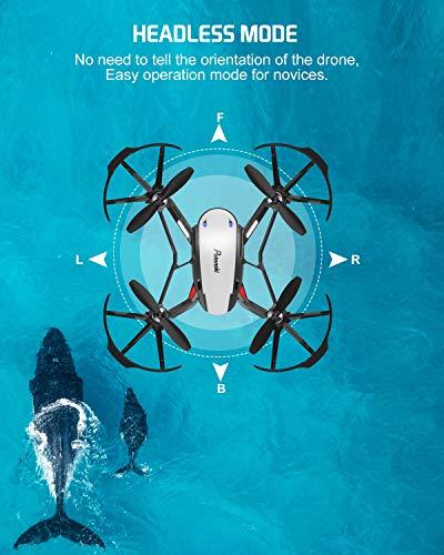 Potensic Drone con Telecamera D20 Drone WiFi Funzione di Sospensione Altitudine Allarme della Scarica e Fuoricampo modalità Senza Testa e HD Adatto per Principianti, Buon Regalo per Bambini - 3