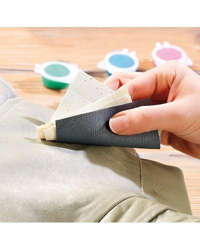 Kit ripara pelli per riparazione ritocco materiali in pelle ecopelle similpelle - Kit riparazione pelle divano ...